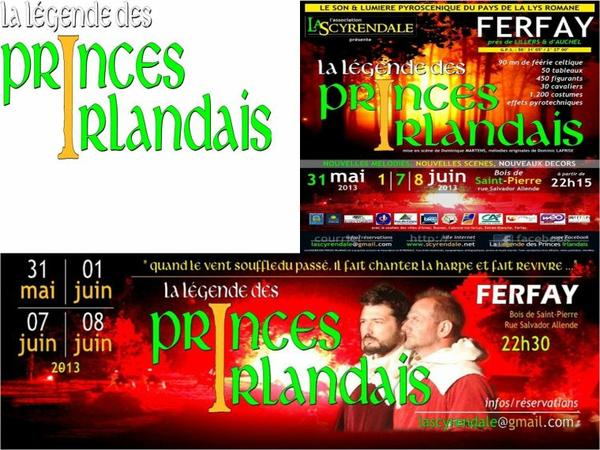 coté coeur '''LA LEGENDE des PRINCES '' IRLANDAIS''..