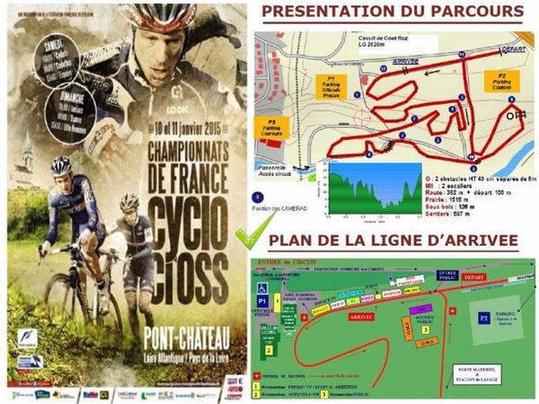 CHAMPIONNAT DE FRANCE DE CYCLO-CROSS  le 10 et 11 janvier 2015