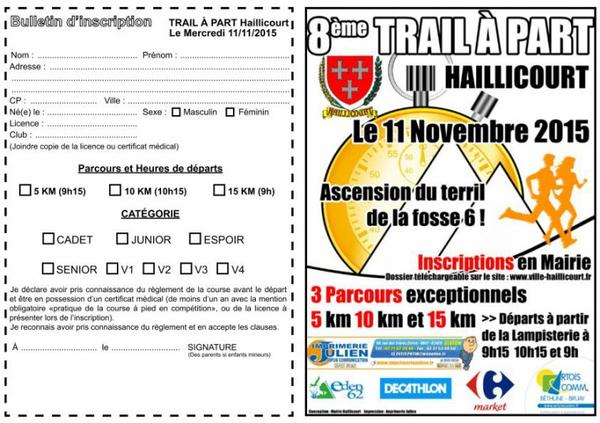 8 ème Trial a Part a Haillicourt le 11 novembre 2015