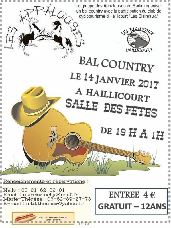 notre bal country a HAILLICOURT