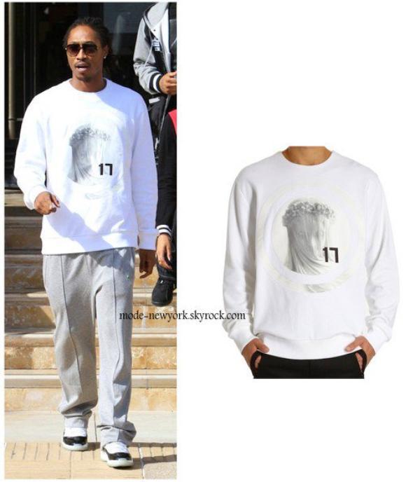 FUTURE en Givenchy Virgin Mary Sweatshirt