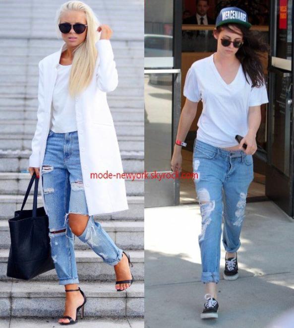 Mettre le jean relooké une mode simple tendance qui reste en actualité chaque année