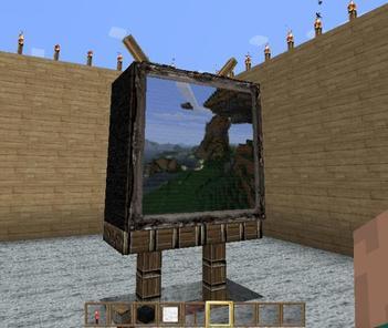 Une Télé sur Minecraft !!! :0