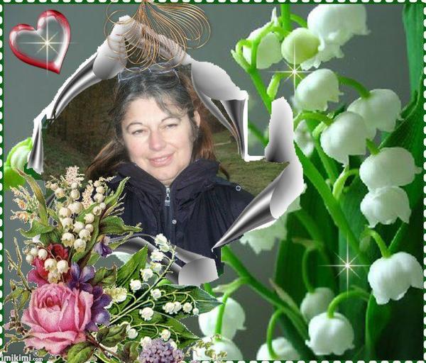 Petit cadeau pour mon amie Florence ... que ce brin de muguet te porte bonheur...mille bisous Josie