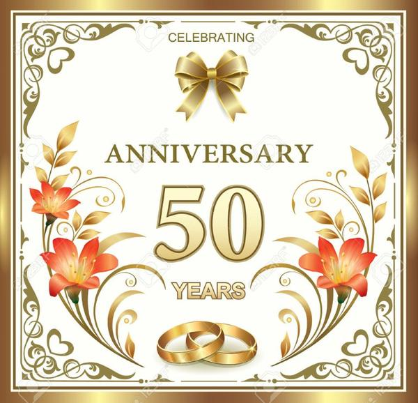 Joyeux Anniversaire Pour Vos 50 Ans De Mariage Je Vous Souhaite