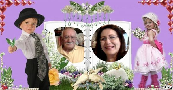 Marion et Paco,que ces brins de muguet vous apportent, joie et bonheur ... Bisous du (l) Josie