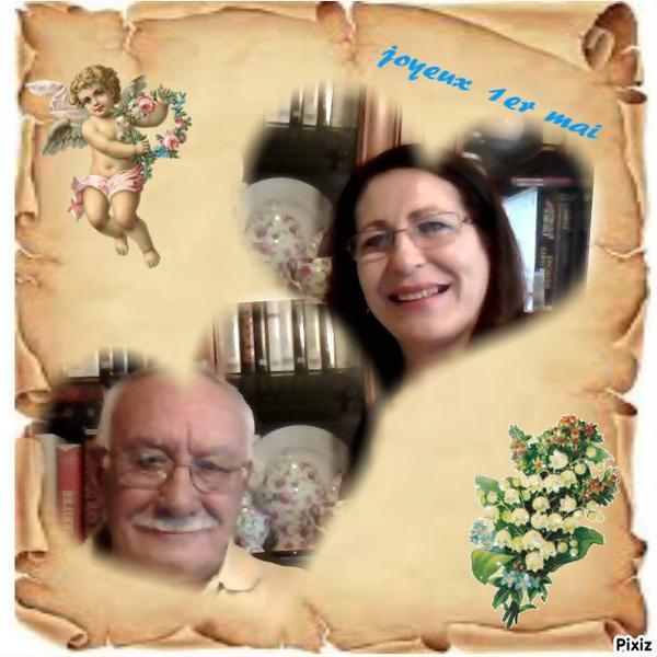 Marion & Paco, que ces quelques brins de muguet vous apportent de la joie et du bonheur ... Bisous du (l) Josie