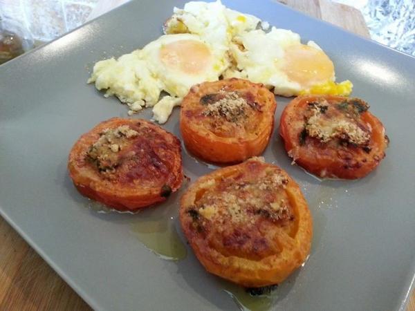 tomate provencale  au parmesan