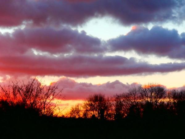 coucher de soleil ..