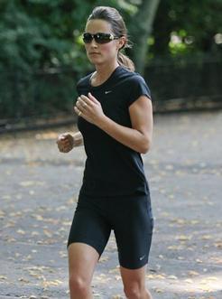 Pippa Middleton : reine du footing dans les rues de londres