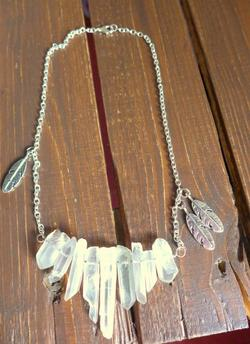 Collier Quartz Blanc Ethnic