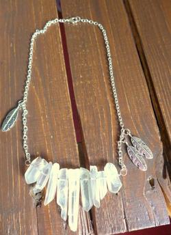 Collier Quartz Blanc Ethnic