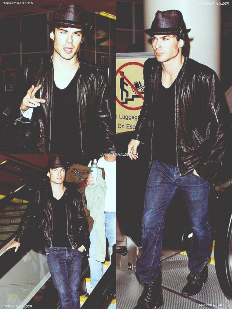 Ian à l'aéroport de LAX. | le 05 décembre 2010.