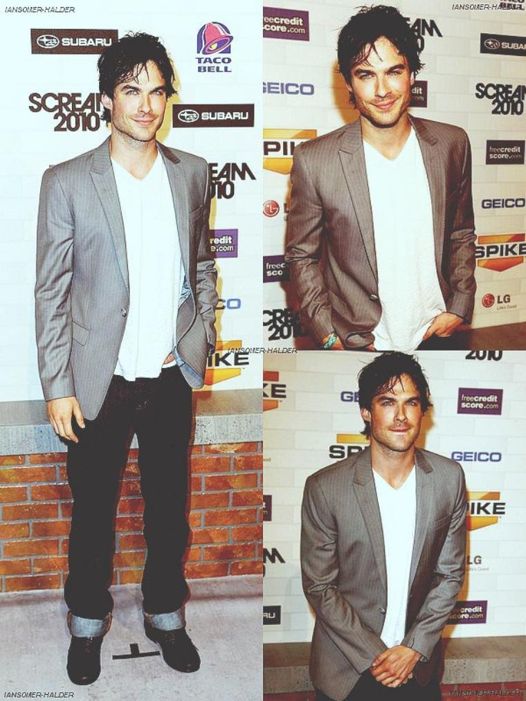 "Ian arrivant au "" Spike TV'S Scream 2010"". | le 16 Octobre 2010."