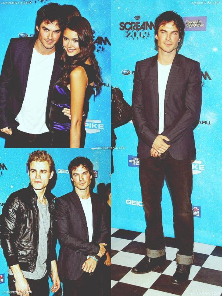 Ian et le cast était présent à l'évènement Scream Awards. | Le 17 octobre 2009.