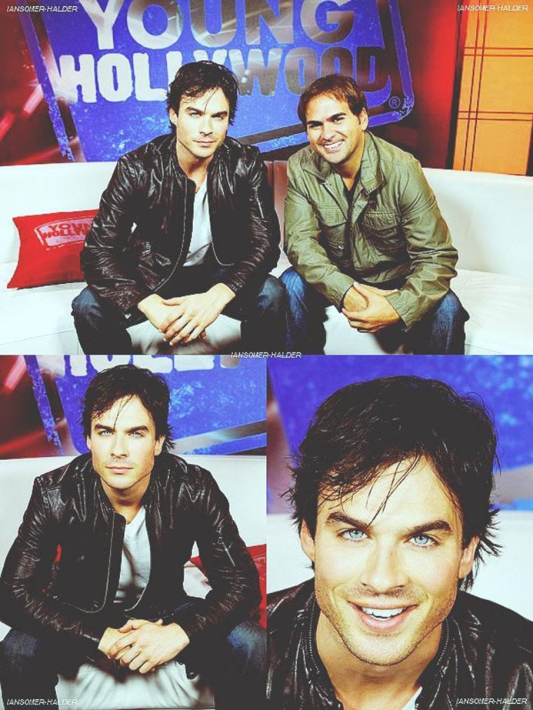 "Ian était dans les studios de "" Young Hollywood"". | le 15 Octobre 2010."