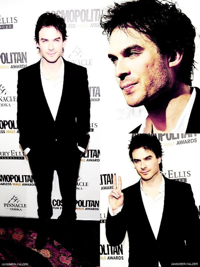 "Ian sortant de l'enregistrement de "" Live With Regis And Kelly "". 