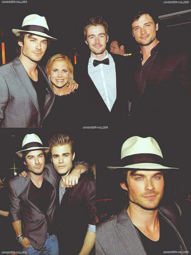 Ian a la CW Network's Upfront 2010 avec Nina et Paul . | Le 20 mai 2010.