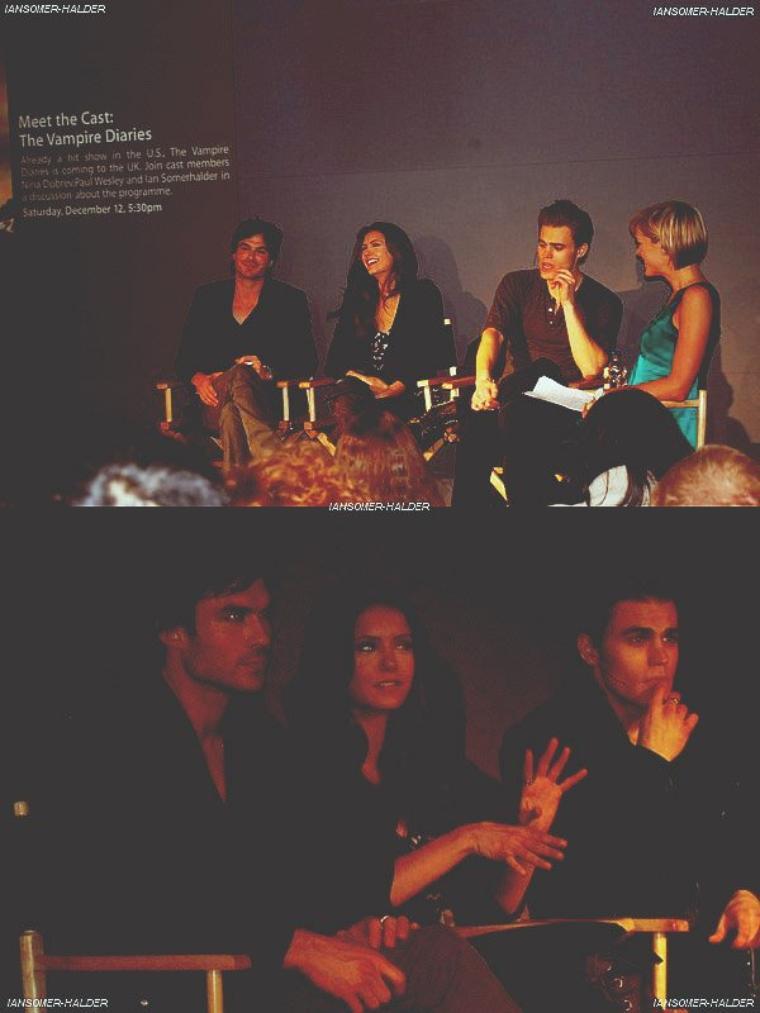 """Ian, Nina et Paul une conférence à Londres pour """"Apple Store"""".   Le 12 décembre 2009."""