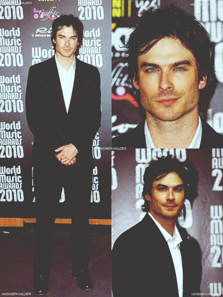 "Ian à la cérémonie ""World Music Awards 2010"". 
