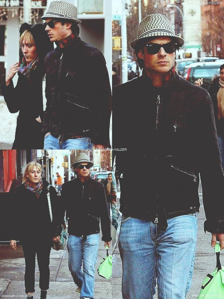 Ian se promenant dans les rue de New-York avec Meghan. | Le 28 février 2010.