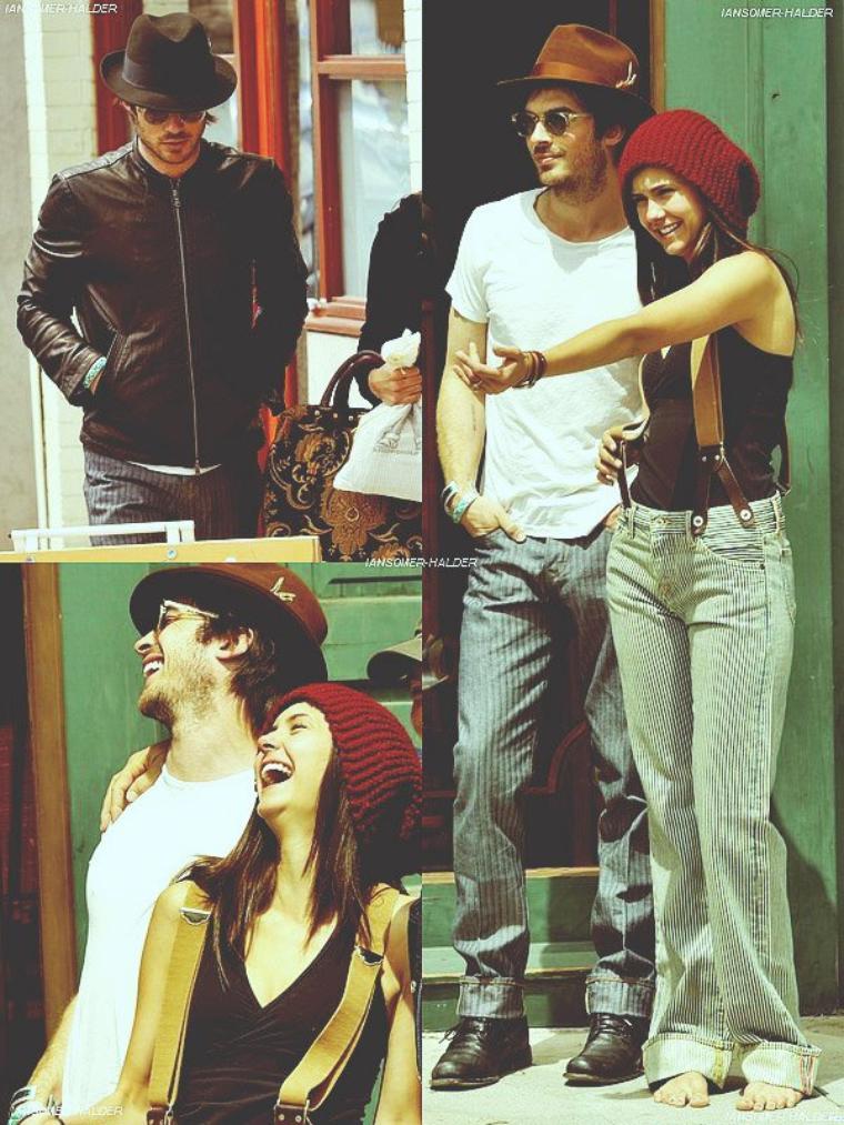 Ian et Nina se promenant dans les rues de Venice en Californie . | Le 28 mai 2010.