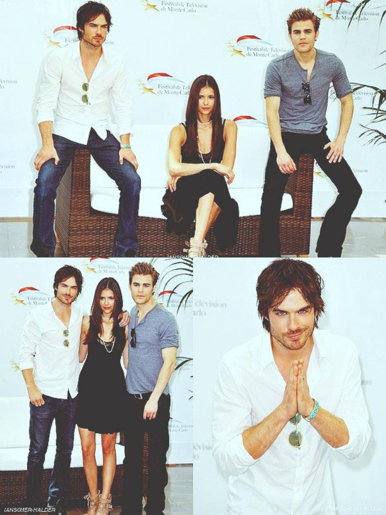 Ian, Nina et Paul au 50eme festival a monte Carlo . | Le 08 juin 2010.