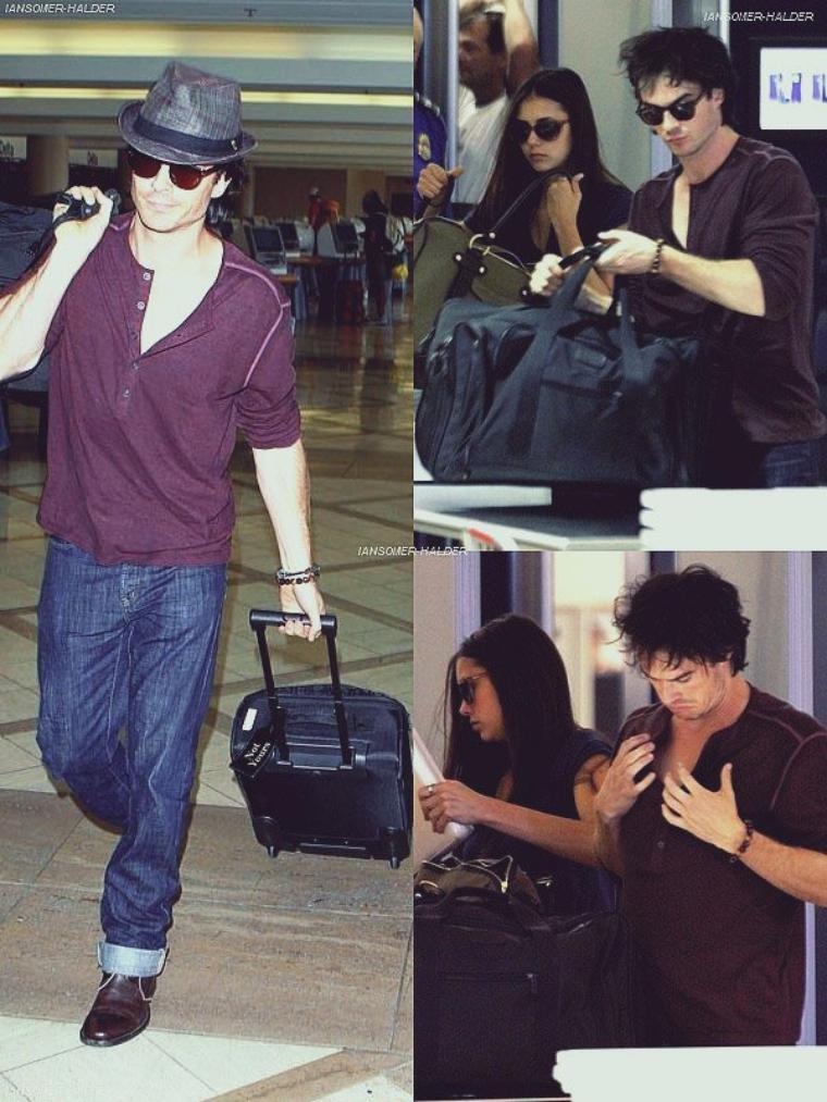 Ian était a l'aéroport de LAX avec Nina. | Le 08 août 2011.