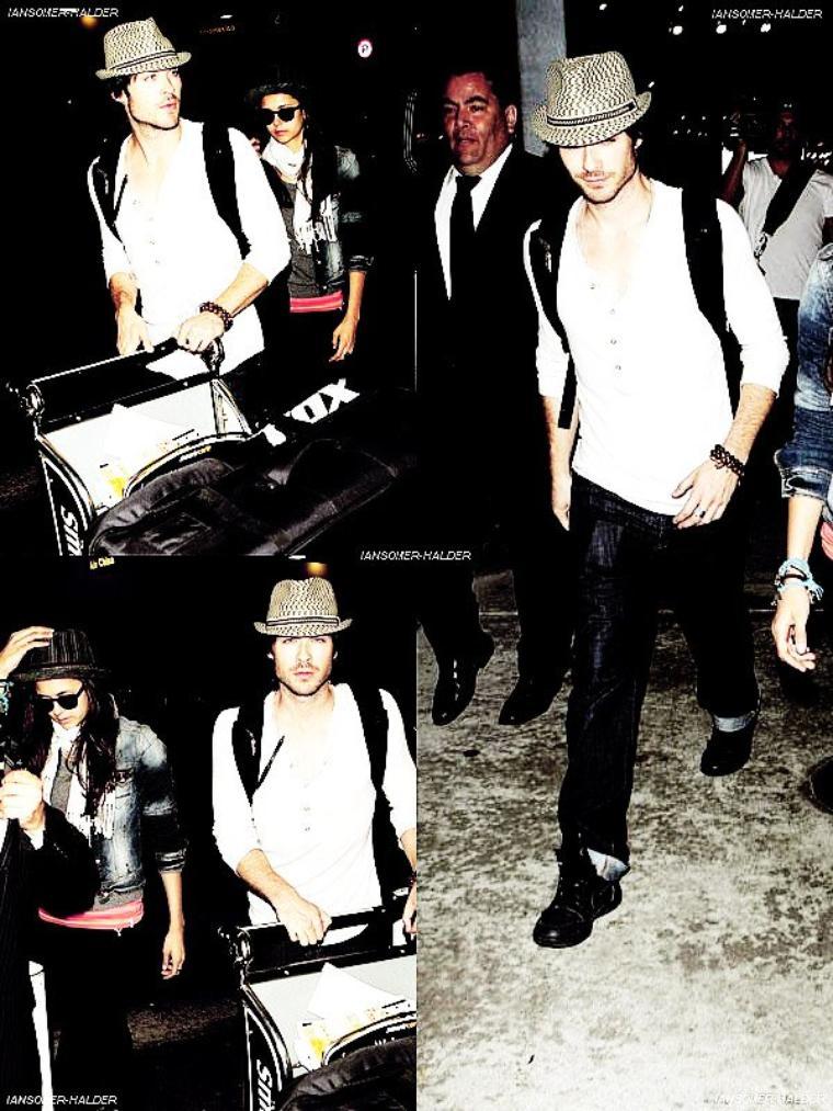 Ian était a l'aéroport de LAX avec Nina. | le 05 juillet 2011.