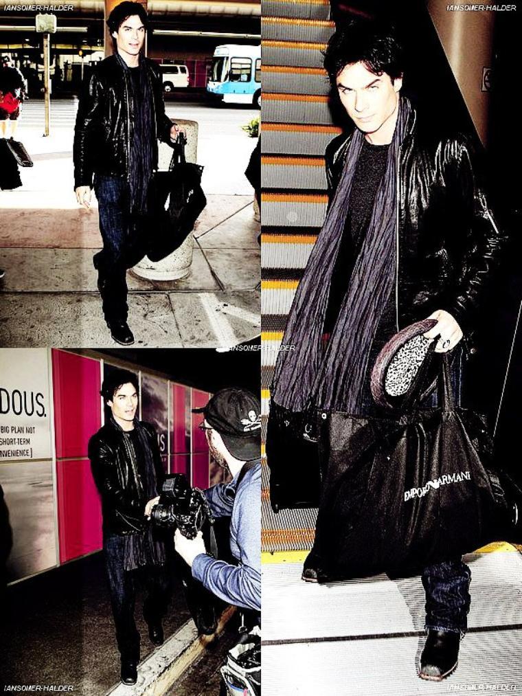 Ian a l'aéroport de LAX. | le 10 janvier 2012.