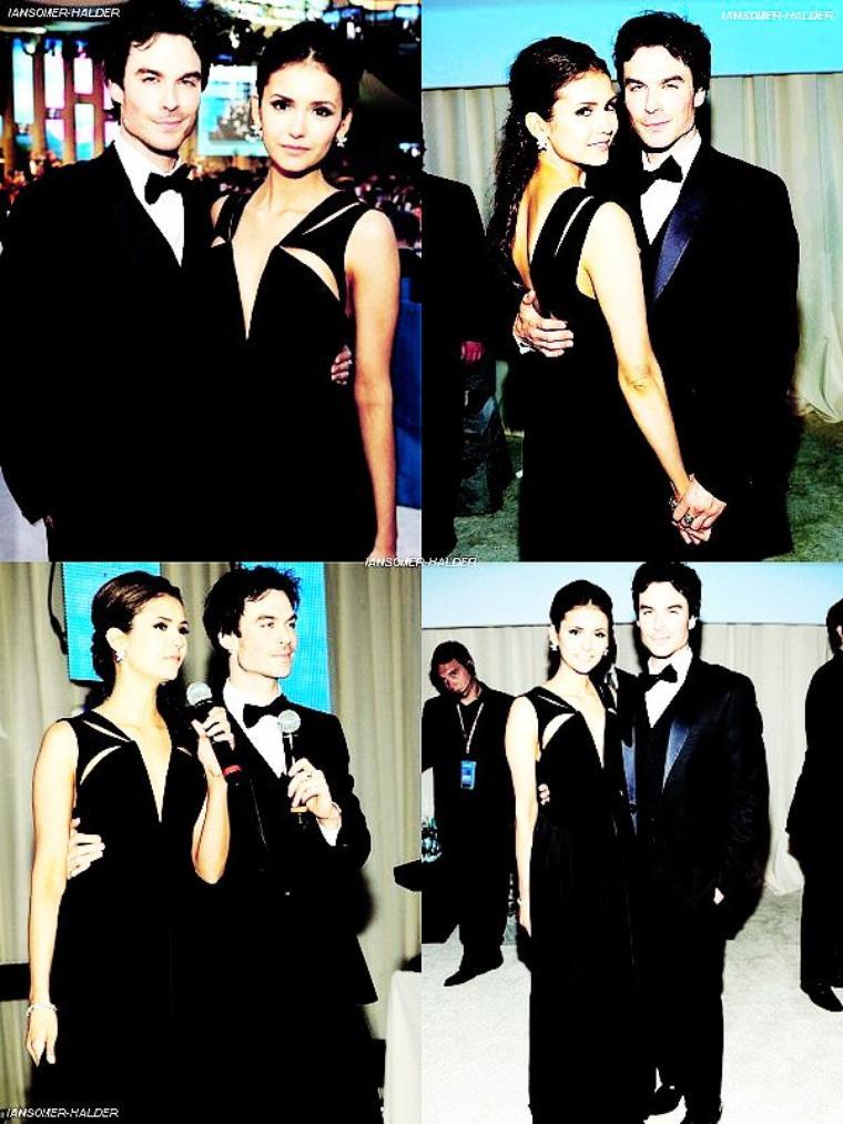 Ian et Nina était présent à la fête organisée par la Fondation Elton John AIDS a l'occasion de la 84eme cérémonie des Oscars. | Le 26 février 2012.
