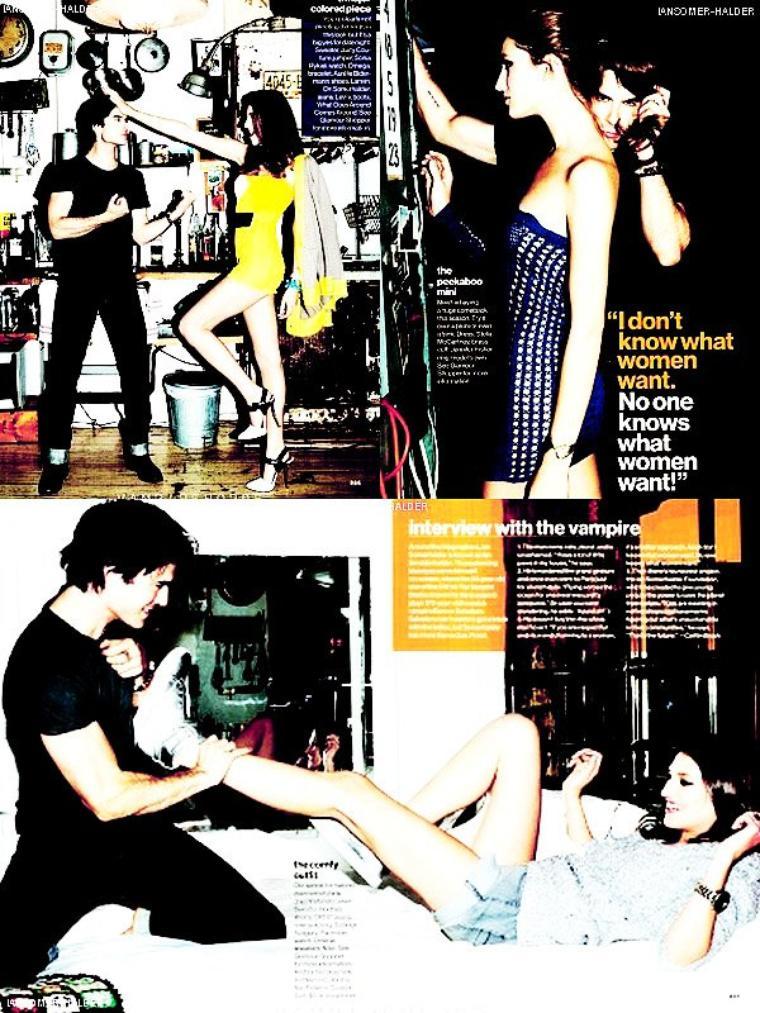 Voici des scans du magazine Glamour. | En 2012.