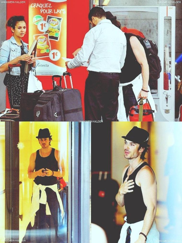 Ian et Nina a la station de Train Montparnasse à Paris. | Le 28 mai 2012.