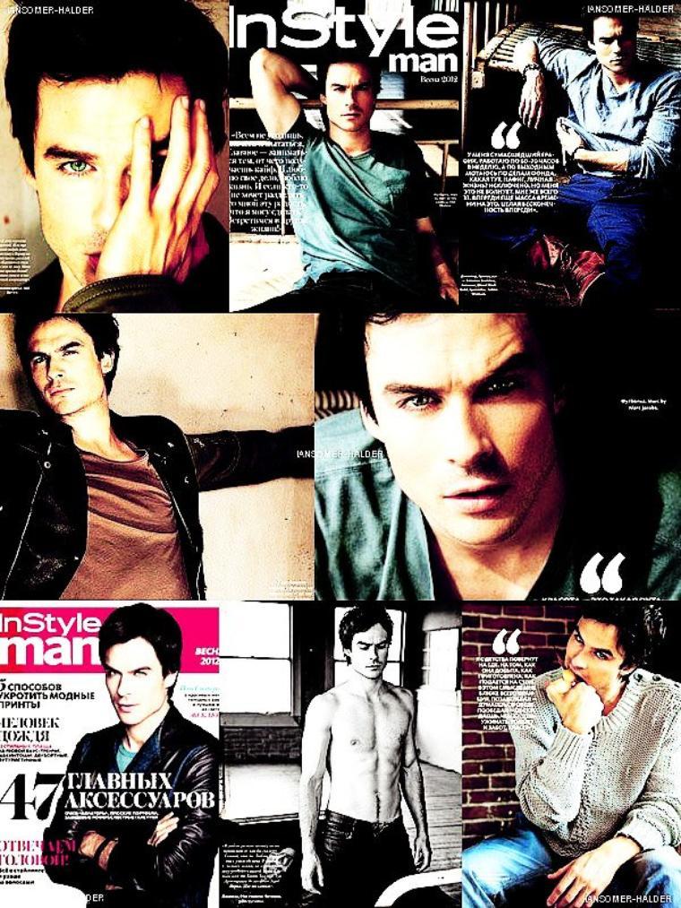 Ian fait la couverture du magasine InStyle Man Rússia en 2012 + des scans. | En 2012.