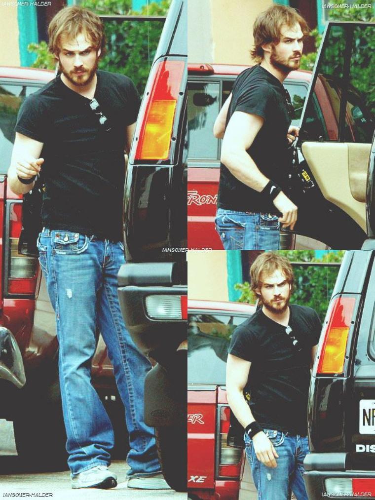Ian allant faire des achats dans un magasin d'alimentation. | Le 05 mai 2006.