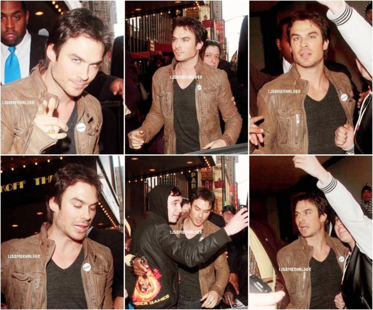 Ian sortant des studios de MTV ce 14 mars. | Le 14 mars 2013.