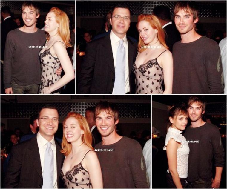 Ian a la WB upfront avec Rose McGowan et Rachel Leigh Cook. | Le 13 mai 2003.