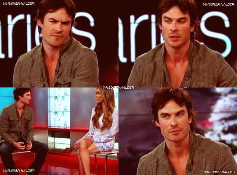 Ian donnant une interview a E! Online. | Le 19 avril 2012.