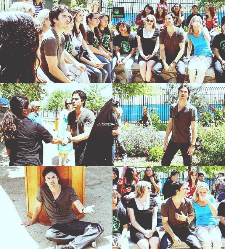 "Ian a visité la ""Compton High School"". | Le 20 avril 2012."