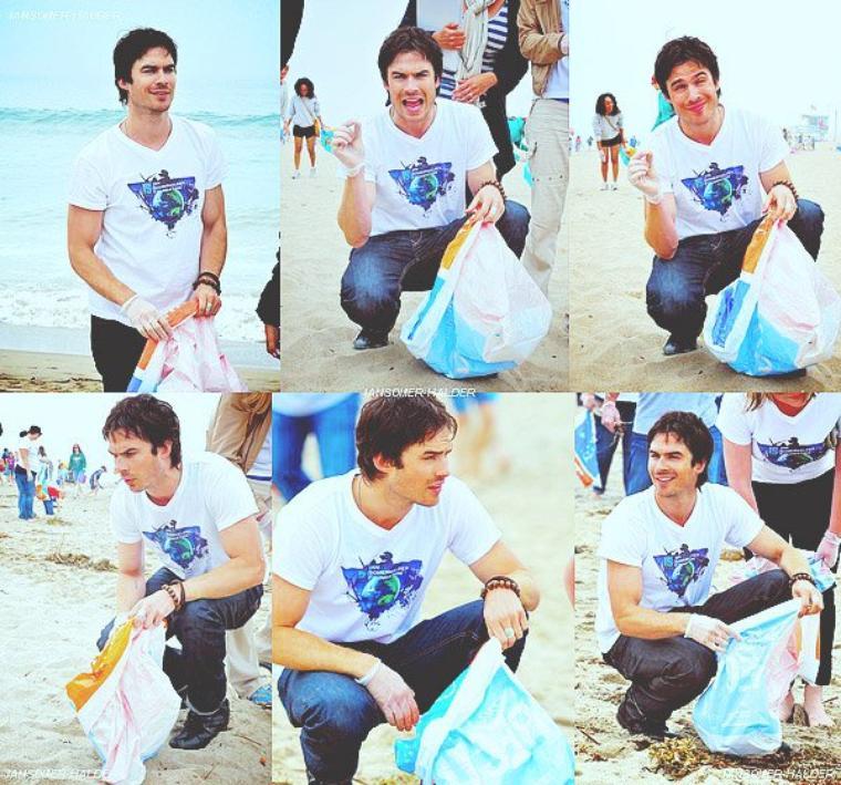 Ian était à la plage de Santa Monica en Californie. | Le 21 avril 2012.