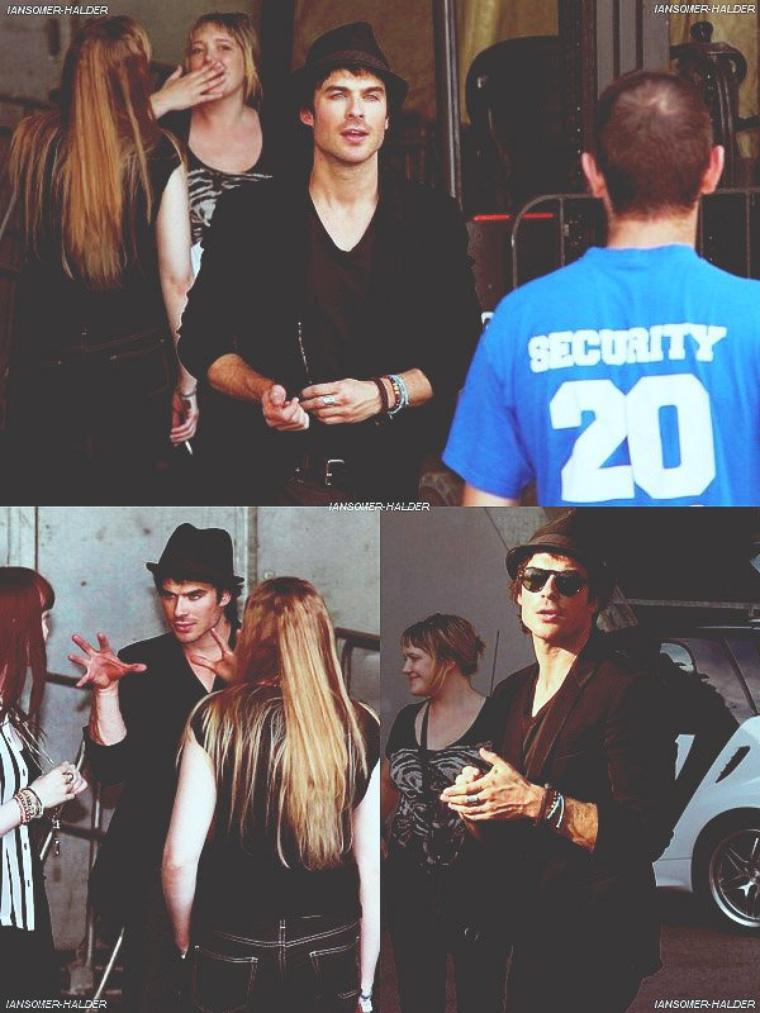 Des photos de Ian ce promenant a Vienne vienne d'apparaitre seulement maintenant. | Le 17 juin 2012.