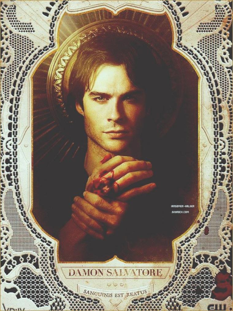 Nouvelle photo promo de Damon Salvatore pour la saison 4 de TVD. | Pas de date.