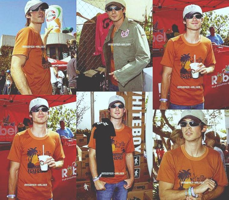 "Ian à la ""Cabana Pre-MTV Movie Awards Beauty Buffet"". | En 2003."