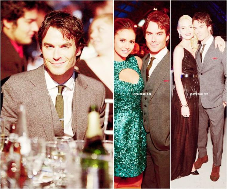 Ian était présent au Critic's Choice Awards avec Nina et Paul.  | Le 10 Janvier 2013.