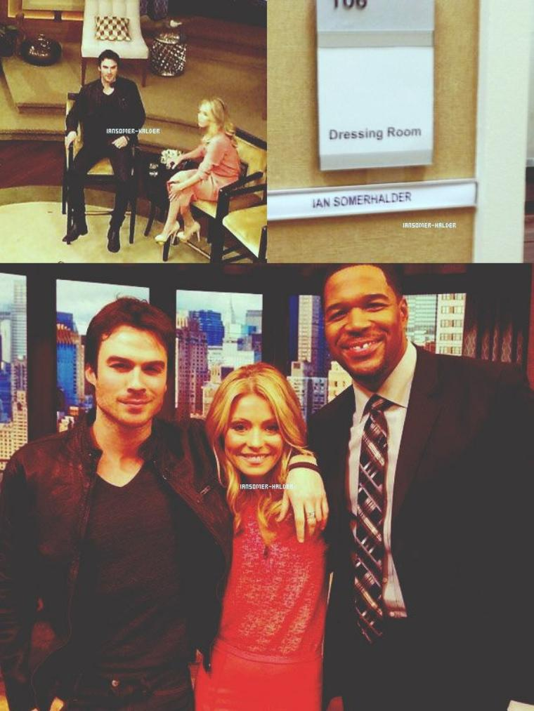 "Ian était dans l'émission ""Live With Kelly and Michael"". 