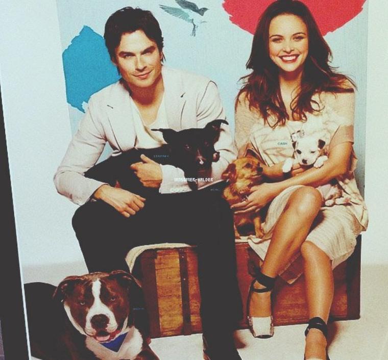 Ian et Nina en visite a une fan malade. | Le 30 mars 2013.