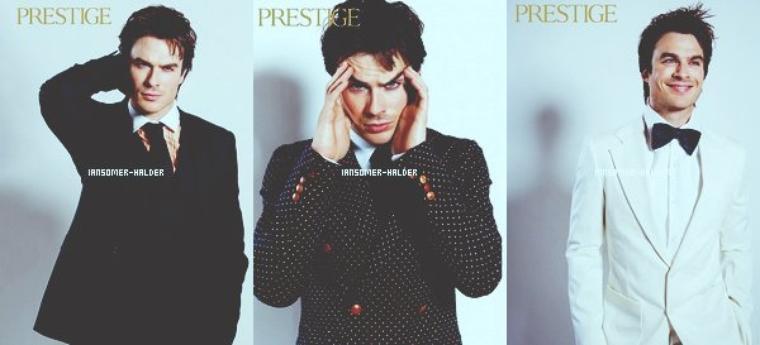 "Photoshoot de Ian pour le magazine ""Prestige Hong Kong"". | En 2013."