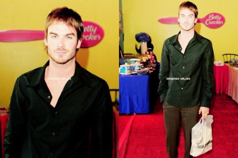 "Ian était au ""silver spoon pre-Golden Globe hollywood buffet. | Le 13 janvier 2005."