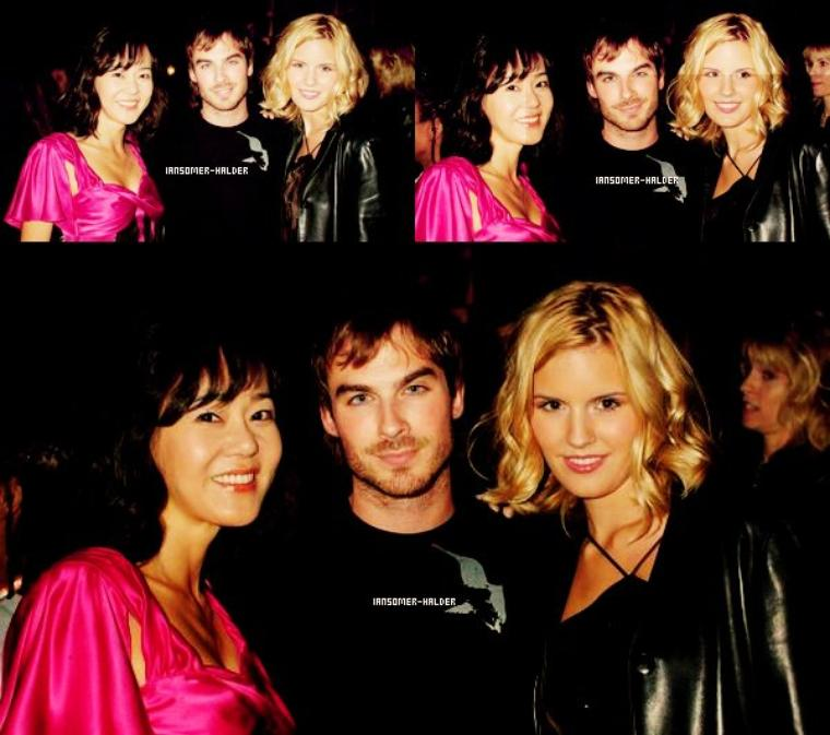 "Ian était a la ""ABC Winter Press Tour Party"". 