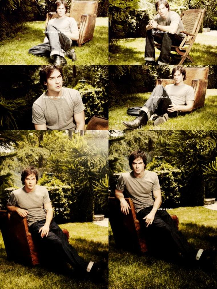 Photoshoot de Ian pour la saison 1 de TVD. | En 2010.